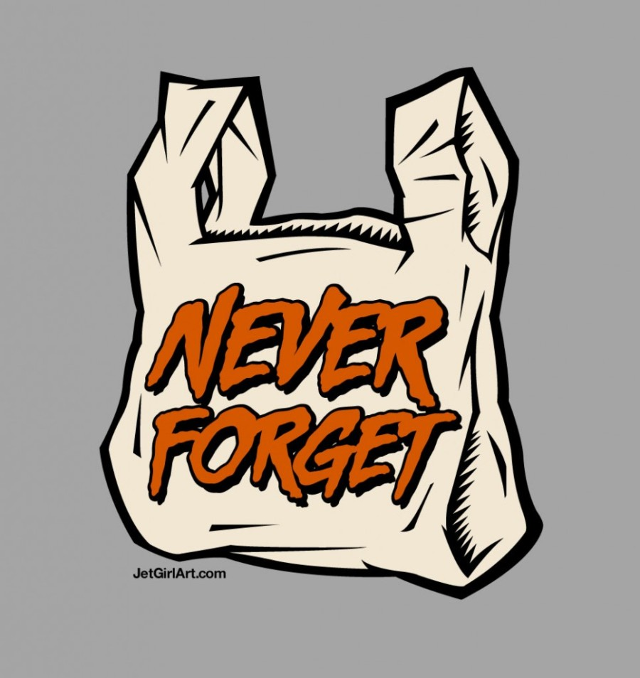 Never Forget - Austin Plastic Bags