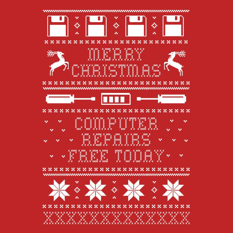 Ugly Christmas Sweater for Computer Folks